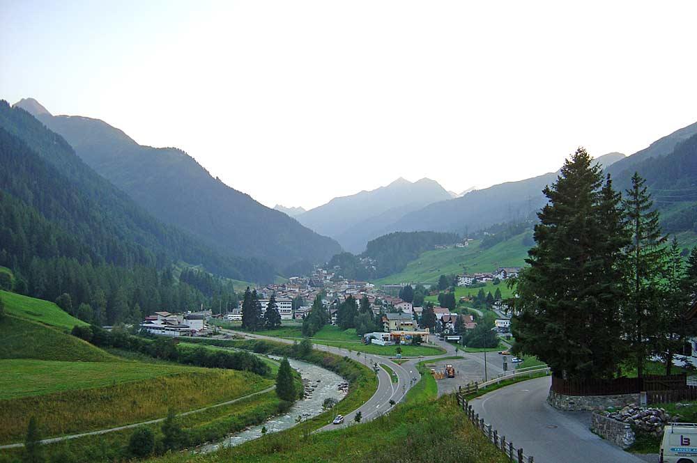 Blick auf St. Anton am Arlberg