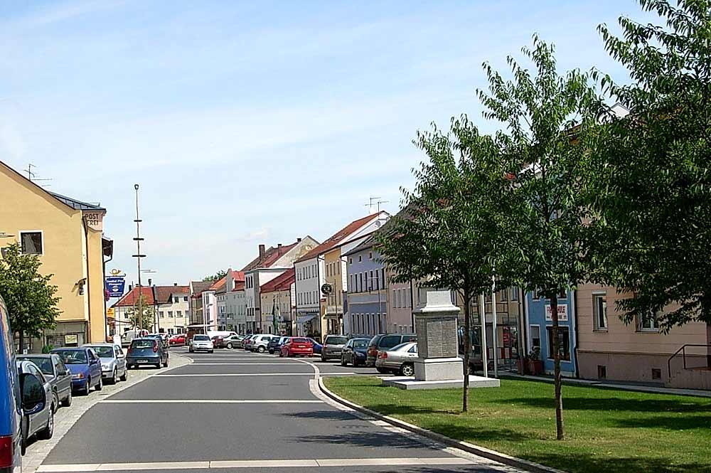 Blick auf den Marktplatz von Wurmannsquick