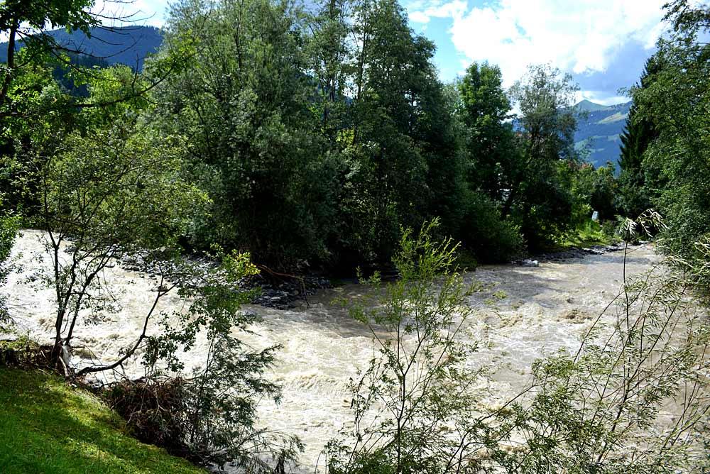 Zusammenfluss der Brixentaler und der Kelchsauer Ache in Hopfgarten