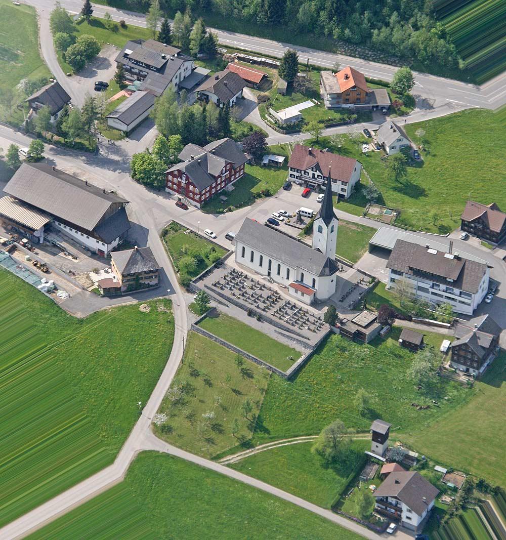 Luftaufnahme von Langen bei Bregenz