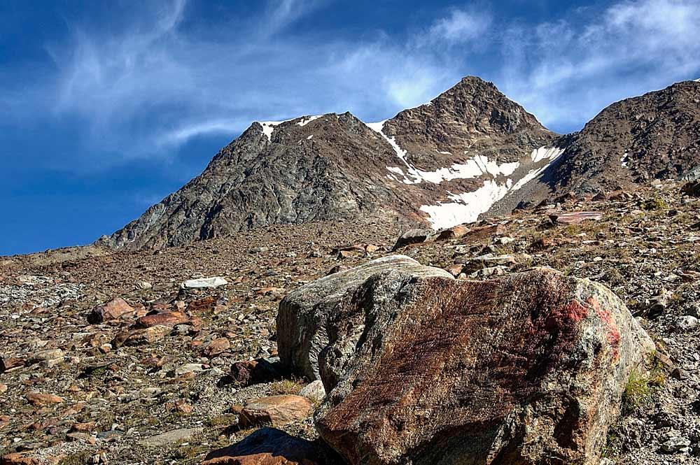 Blick auf die Wildspitze in den Ötztaler Alpen