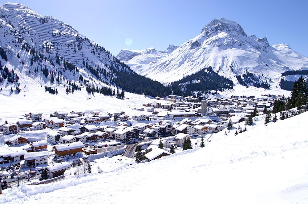 Blick auf Lech am Arlberg
