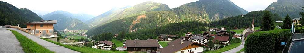 Panoramaaufnahme von Finkenberg