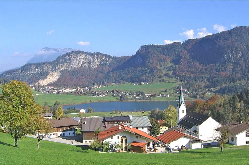 Blick auf die Gemeinde Thiersee