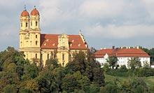 Blick auf die Schönenbergkirche in Ellwangen