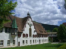 Fachwerk-Fassade des Benediktinerklosters Blaubeuren
