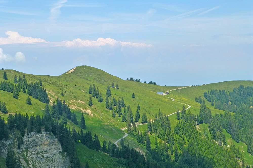 Hohe Kugel vom Gipfel des First gesehen
