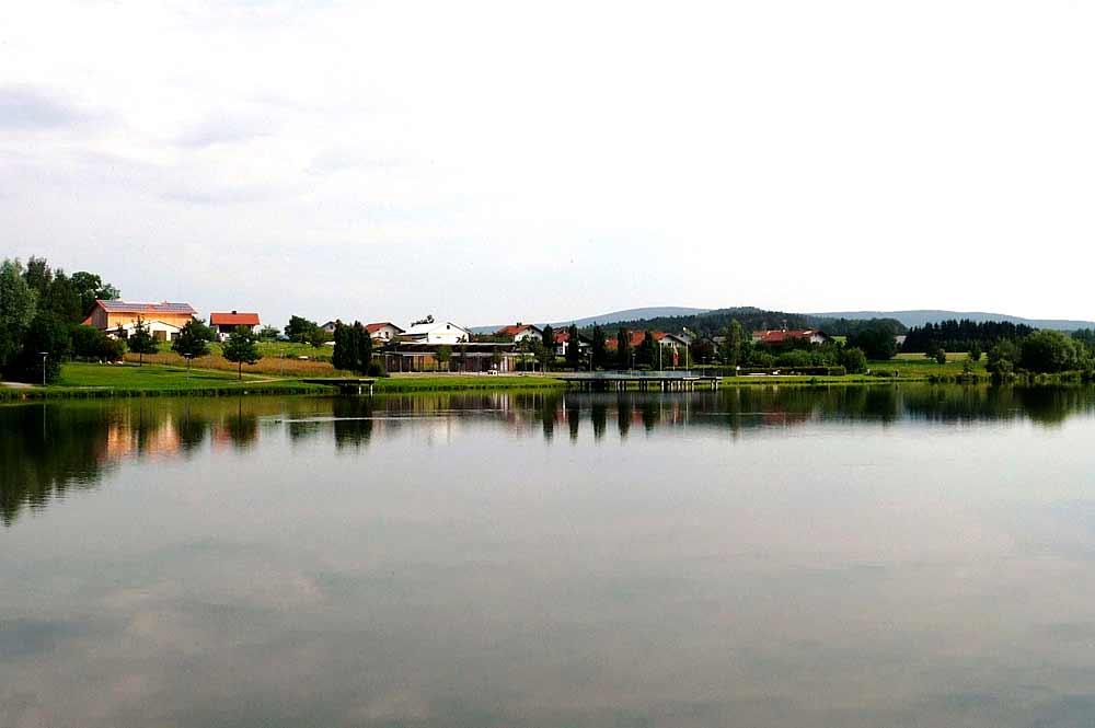 Blick auf den Erlauzwieseler See bei Waldkirchen