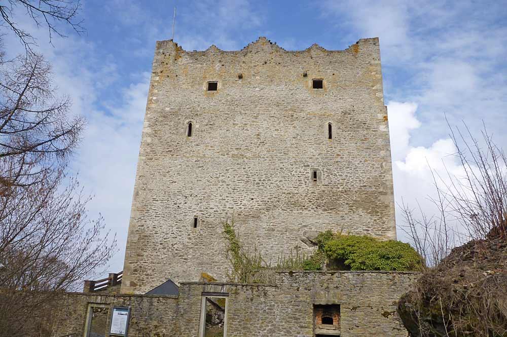 Ehemaliger Wohnturm der Burgruine Neunussberg bei Viechtach