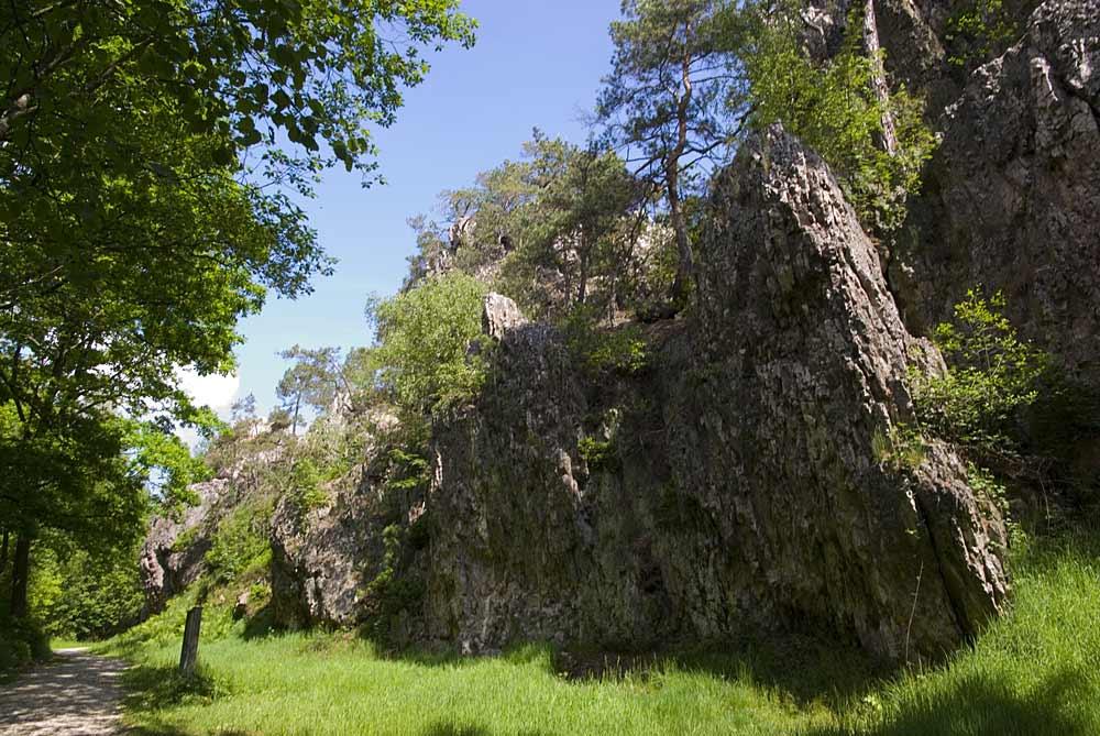 Wanderweg entlang der Quarzformation Pfahl bei Viechtach