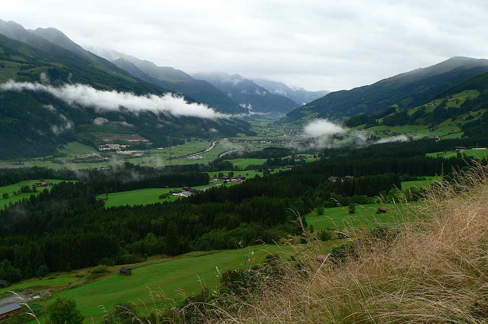 Blick vom Pass Thurn aus ins Obere Pinzgautal