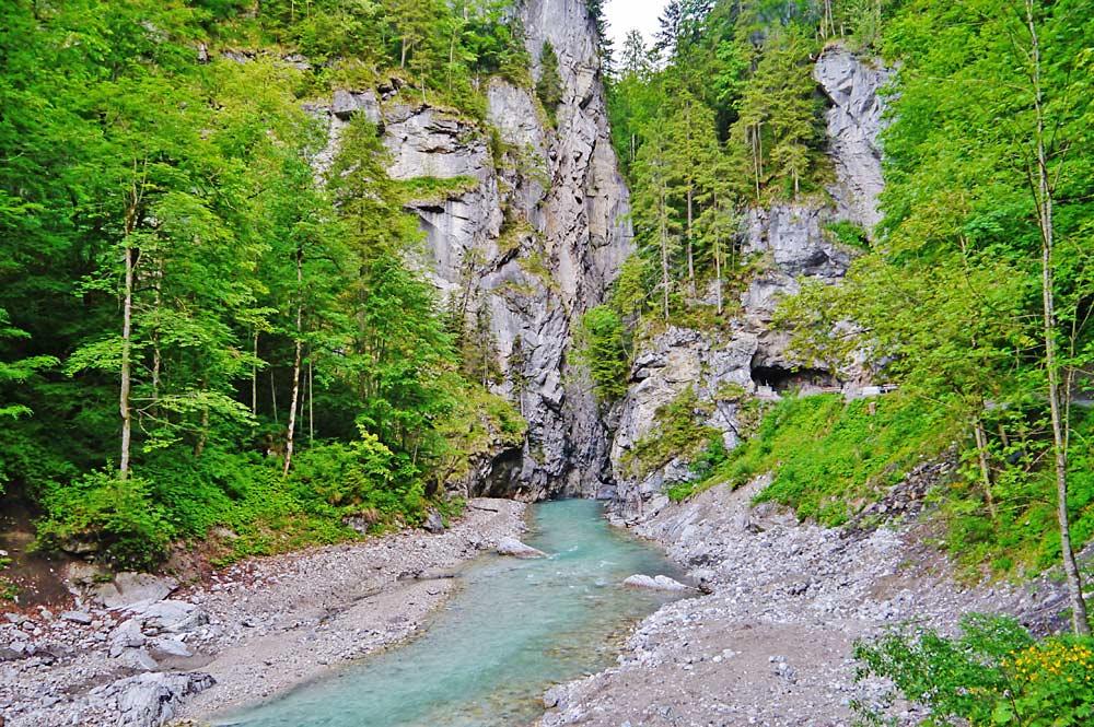 Blick in die Partnachklamm bei Garmisch-Partenkirchen