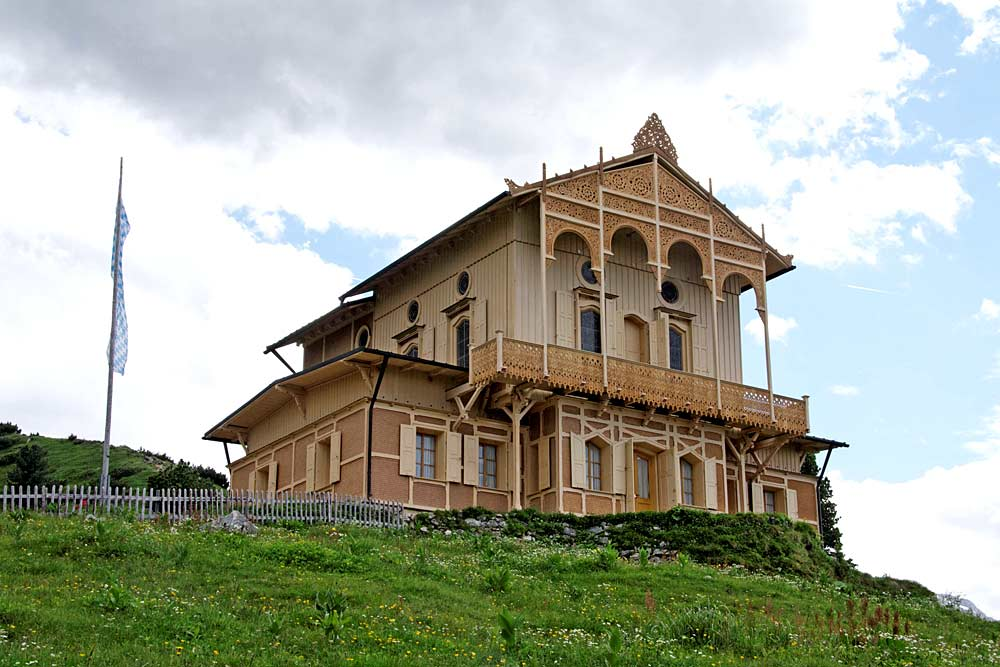Blick auf das Königshaus am Schachen bei Garmisch-Partenkirchen