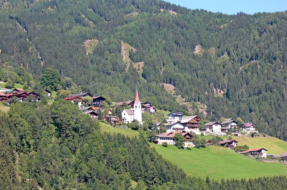 Blick auf den Ortsteils Bannberg der Gemeinde Assling