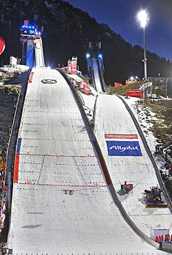 Die Skisprungschanze in Oberstdorf