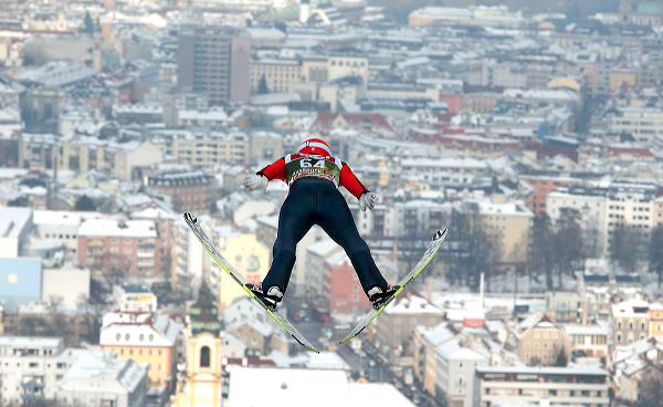 Skispringer in Innsbruck