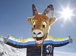 Maskottchen der Ski WM St. Moritz 2017