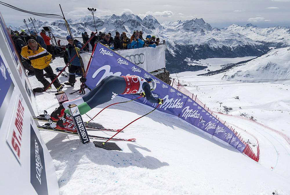 Starthäuschen bei der Ski WM in St. Moritz