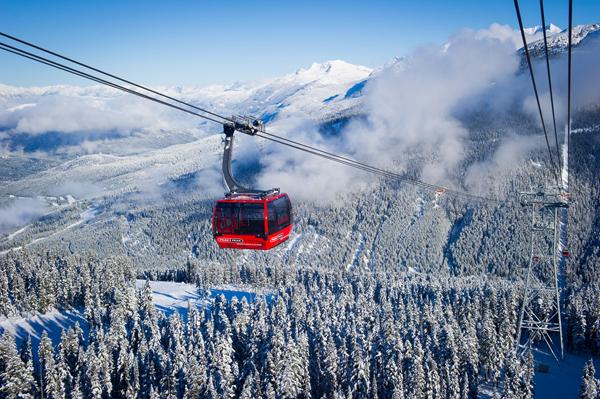 Skiverbund Blackcom/Whistler Peak2Peak Gondola