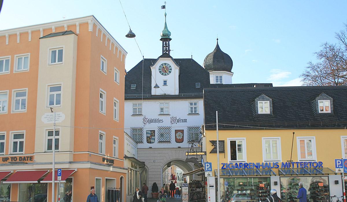 Das Stadttor Mittertor © Stadt Rosenheim