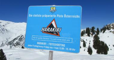 Warnschild vor der Harakiri