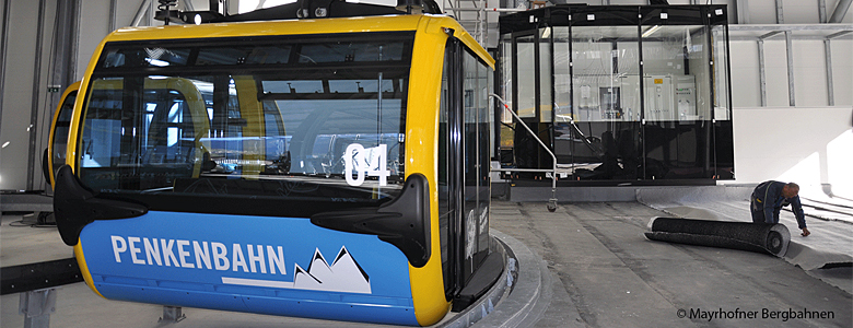 Gondel der Penkenbahn in  Mayrhofen