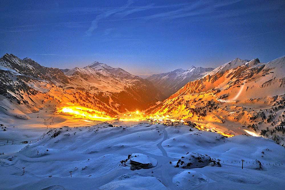 Nachtpanorama Obertauern © Tourismusverband Obertauern