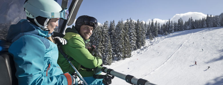 Sessellift im Skigebiet Garmisch-Classic