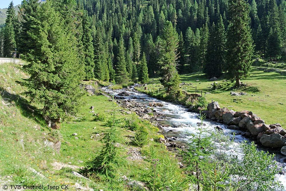 Ein Bach in der Nähe der Lienzer Hütte