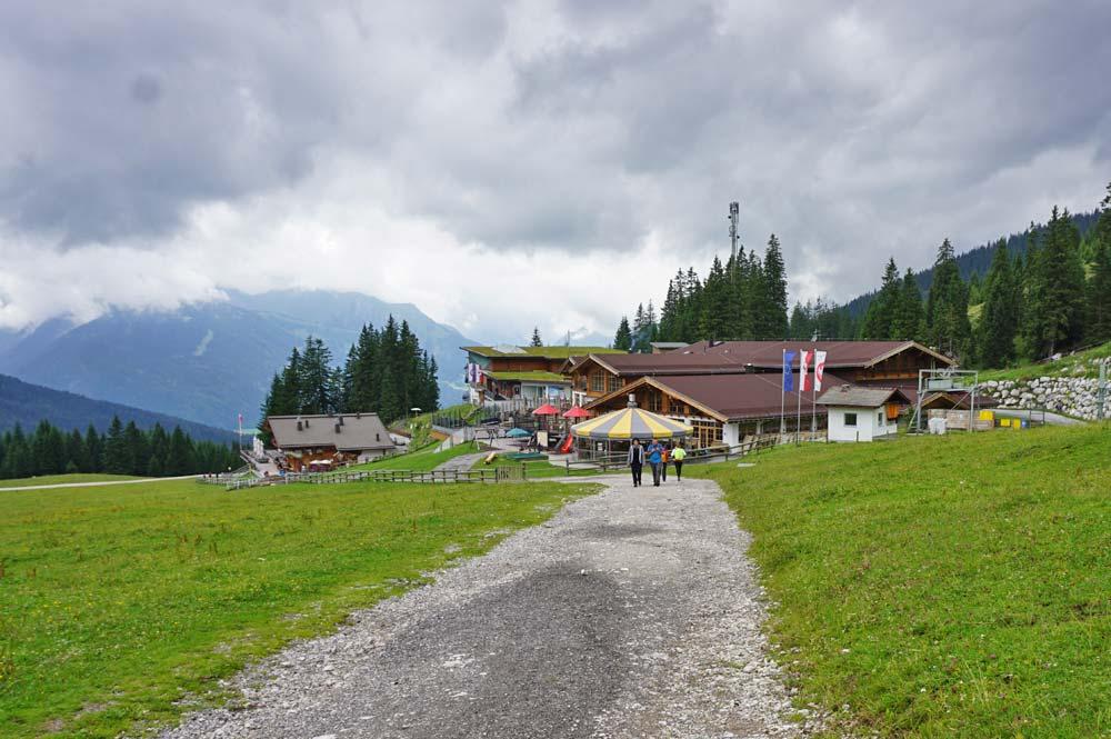 Die Bergstation der Ehrwalder Bergbahn