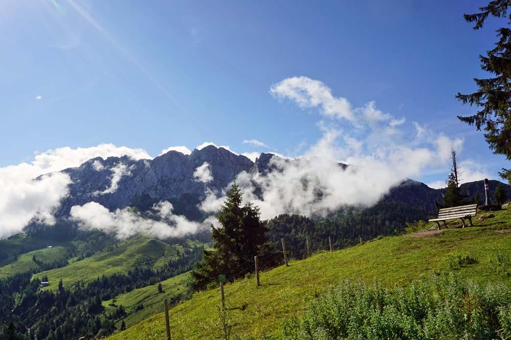 Blick vom Brentenjoch Richtung Kaisergebirge