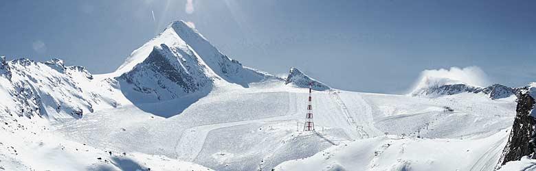 Blick auf den Kitzsteinhorn Gletscher