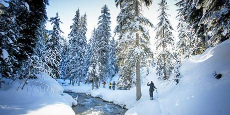Schneeschuhwandern in Courchevel
