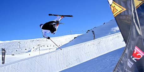 Halfpipe in Les 2 Alpes
