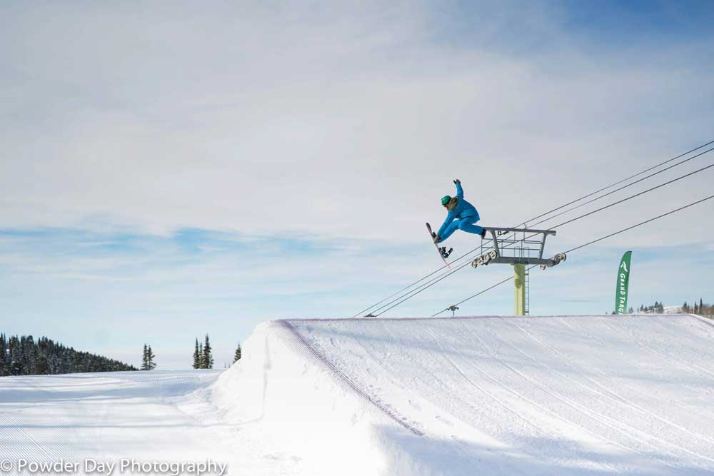 Snowpark in Grand Targhee