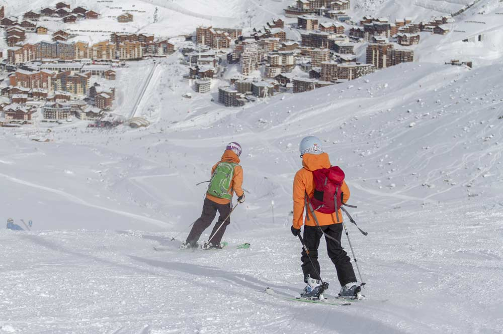 Skifahrer in Val Thorens