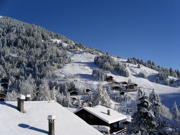 Morgins im Winter
