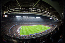 Innenraum des Stadion Camp Nou in Barcelona