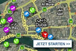Stadtplan Dubai starten