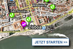 Stadtplan Lissabon starten