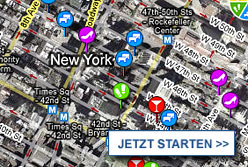 Stadtplan New York starten
