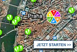 Stadtplan Prag starten