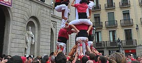 Castellers in Barcelona