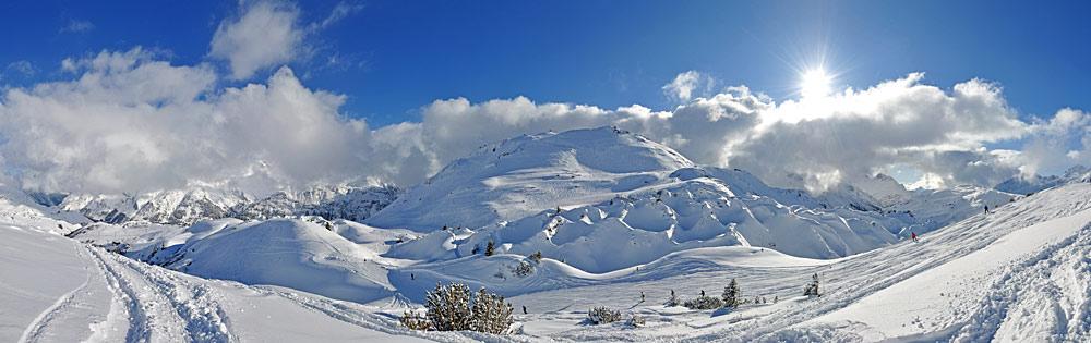Naturschutzgebiet Gipslöcher und Berg Biberkopf bei Lech am Arlberg