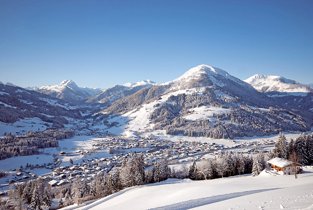 Blick auf Kirchberg in Tirol vom Goasberg aus