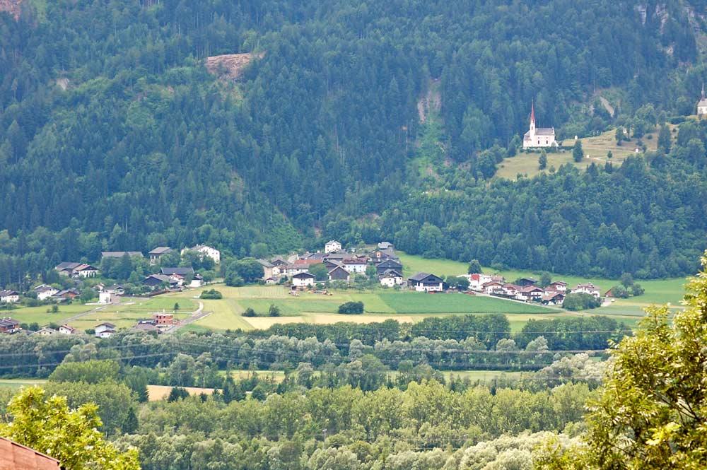 Luftaufnahme von Lavant