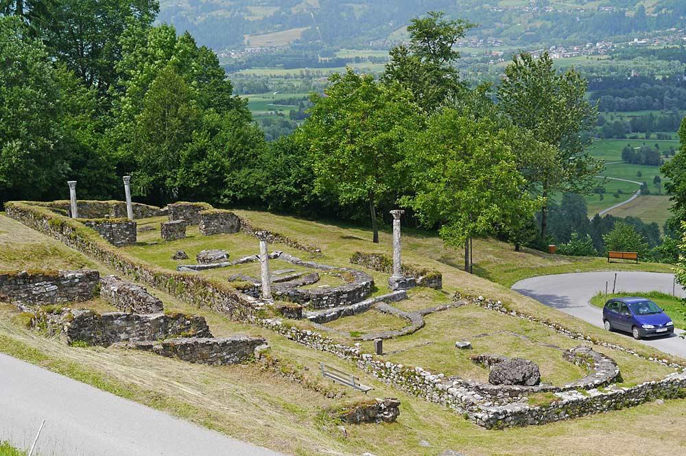 Ruinen der römischen Kirche auf dem Lavanter Kirchbichl