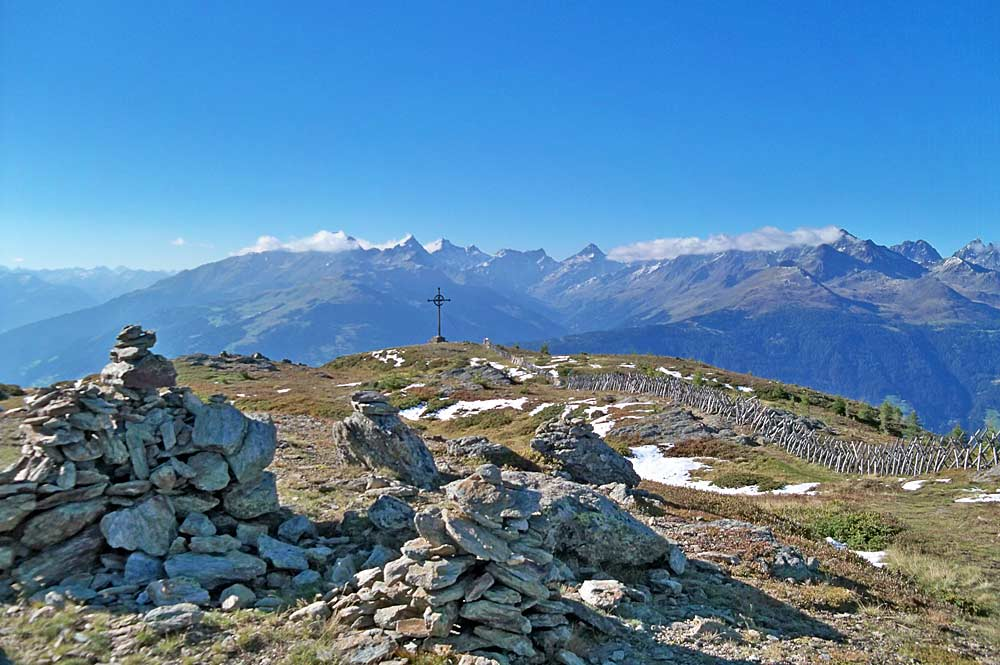 Gipfel des Ederplans bei Dölsach, Blickrichtung Nordwesten