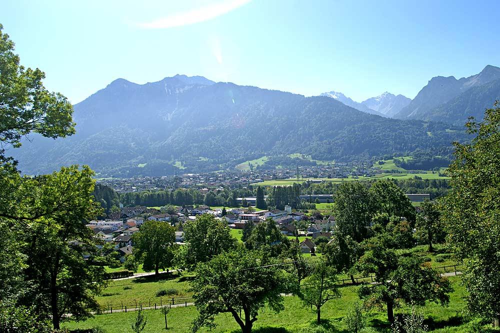 Blick vom Jagdberg auf Schlins und Nenzig