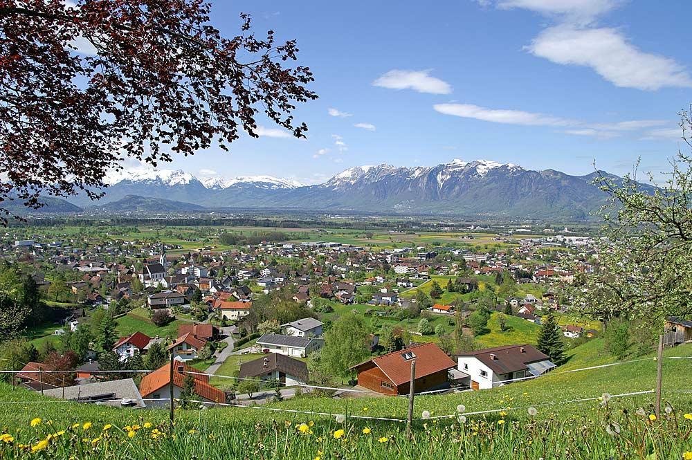 Gemeinde Weiler vom Ortsteil Halden aus gesehen